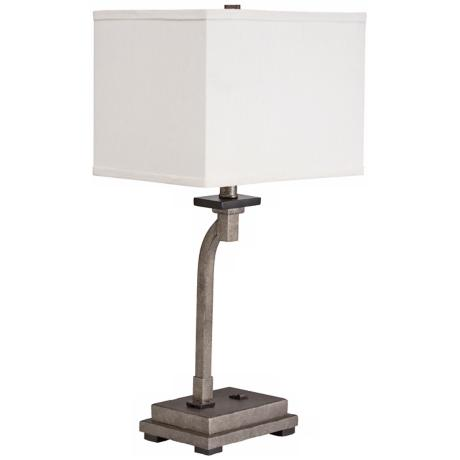 Kichler Darian Champagne Mist Desk Lamp with Outlet