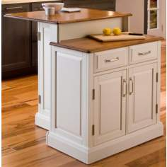 Woodbridge White Two-Tier Kitchen Island