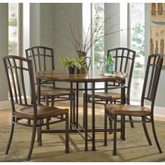 Oak Hill Distressed Oak 5-Piece Dining Set