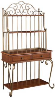 Oak Hill Distressed Oak Bakers Rack (X4612)