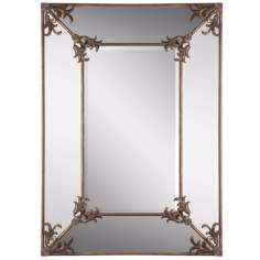 "Uttermost Ansonia 60"" High Gold Wall Mirror"