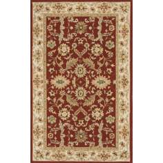 Veranda VR-03 Burgundy Indoor/Outdoor Area Rug