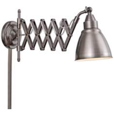 Kenroy Home Floren Antique Nickel Accordion Wall Lamp