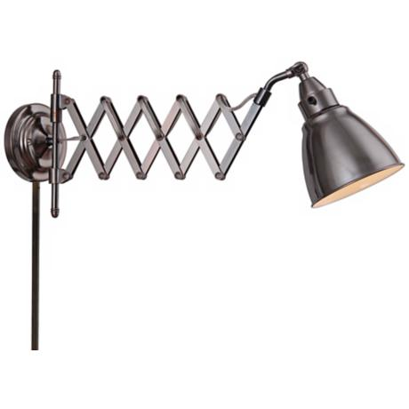 Wall Mounted Accordion Lamps : Kenroy Home Floren Copper Bronze Accordion Wall Lamp - #X4749 LampsPlus.com