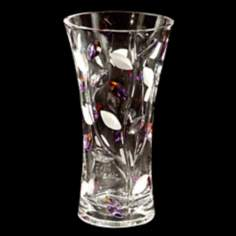 Dale Tiffany Lavender Leaf Tall Crystal Vase