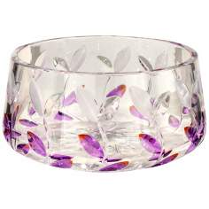 Dale Tiffany Lavender Leaf Crystal Bowl