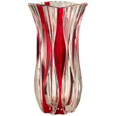 Dale Tiffany Red Monte Carlo Crystal Vase