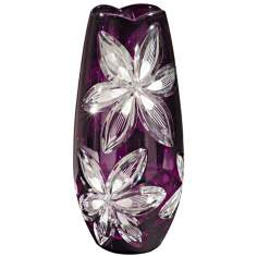 Dale Tiffany Burgundy Cayman Small Crystal Vase