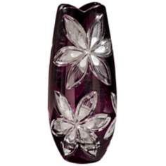 Dale Tiffany Burgundy Cayman Large Crystal Vase