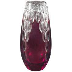 Dale Tiffany Red Marble Small Crystal Vase