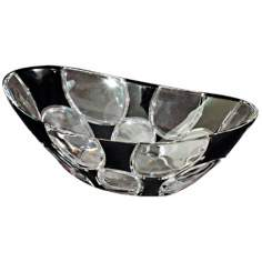 Dale Tiffany Rocky Black Crystal Bowl