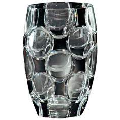 Dale Tiffany Rocky Black Crystal Vase