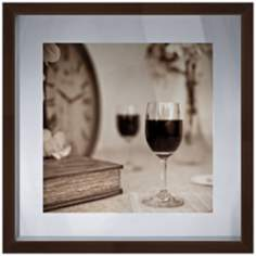 "Sepia Wine I 18 1/2"" Square Photo Wall Art"
