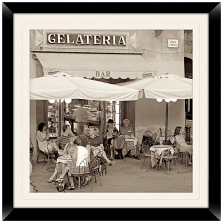 "Gelateria I 20 1/2"" Square Framed Photo Wall Art"