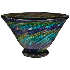 Dale Tiffany Under the Sea Hand-Blown Art Glass Bowl
