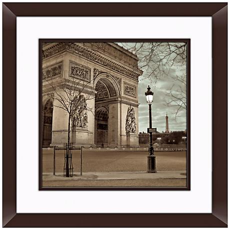 "Paris II 20 1/2"" Square Framed Photo Wall Art"