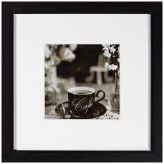 "Cafe VI 20 1/2"" Square Still Life Photo Wall Art"
