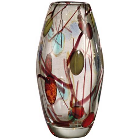Dale Tiffany Lesley Hand-Blown Art Glass Vase