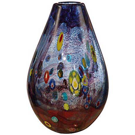 "Dale Tiffany Basil Hand-Blown Art Glass 11 1/2"" High Vase"
