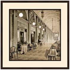 "European Cafe I 32"" Square Photo Wall Art"