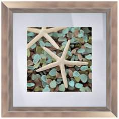 "Blue Shells I 18 1/2"" Square Coastal Wall Art"