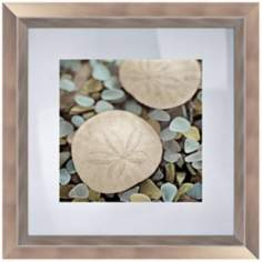 "Blue Shells II 18 1/2"" Square Coastal Wall Art"