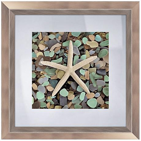 "Blue Shells III 18 1/2"" Square Coastal Wall Art"