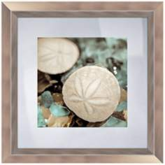 "Blue Shells IV 18 1/2"" Square Coastal Wall Art"