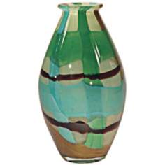 Dale Tiffany La Mesa Oval Hand-Blown Art Glass Vase
