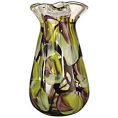 Dale Tiffany North Shore Tall Hand-Blown Art Glass Vase