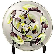 Dale Tiffany North Shore Hand-Blown Art Glass Charger