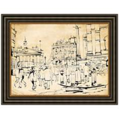 "High Street 36"" Wide Framed Retro Wall Art"