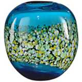 Dale Tiffany Poppy Field Hand-Blown Art Glass Vase