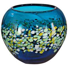 Dale Tiffany Poppy Field Hand-Blown Art Glass Bowl
