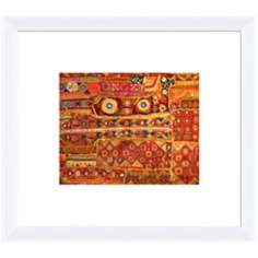 "Organic Tapestry II 18"" Wide Framed Wall Art"