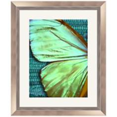 "Butterfly 23 1/2"" High Framed Wall Art"