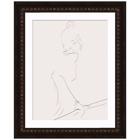 "Contemplation I 33"" High Framed Wall Art"