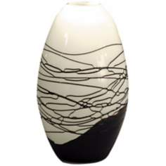 Dale Tiffany Westerly Black Hand-Blown Art Glass Vase