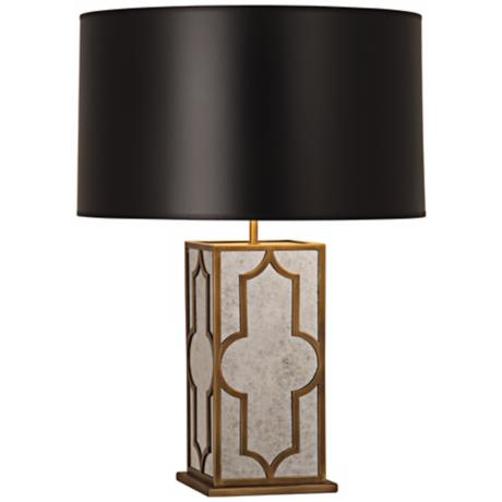 Robert Abbey Addison Black and Brass Table Lamp