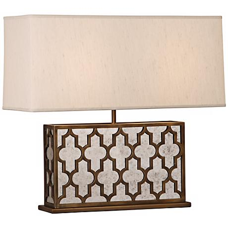 Robert Abbey Addison Wide Weathered Brass Table Lamp