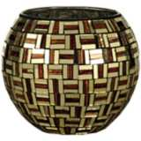 Dale Tiffany Ravenna Mosaic Art Glass Candle Holder
