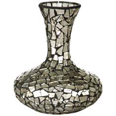 Dale Tiffany Silver Small Mosaic Decanter Vase