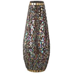 Dale Tiffany Peacock Grande Mosaic Art Glass Vase