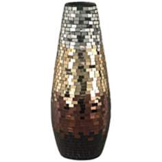 Dale Tiffany Metallic Grande Mosaic Art Glass Vase