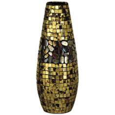 Dale Tiffany Antique Gold Grande Mosaic Art Glass Vase