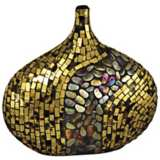 Dale Tiffany Antique Gold Oval Mosaic Art Glass Vase