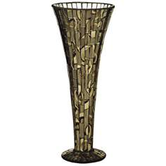 Dale Tiffany Boa Small Mosaic Art Glass Vase
