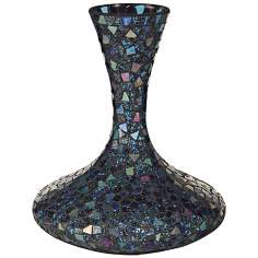 Dale Tiffany Sapphire Large Mosaic Glass Decanter Vase