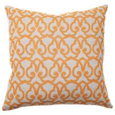 "Full Bloom London 22"" Wide Gold Accent Pillow"