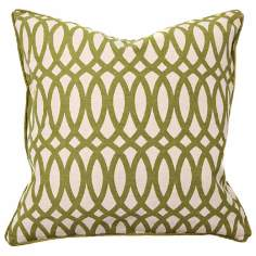 "Second Nature Geo 22"" Square Green Accent Pillow"